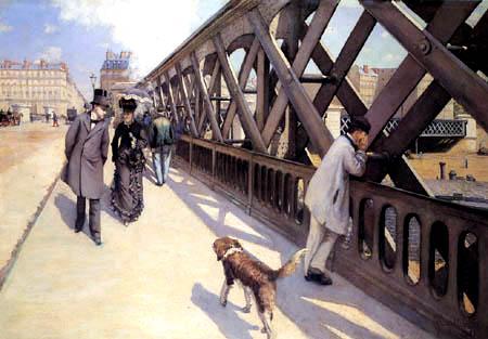 Gustave Caillebotte, Il ponte dell'Europa, 1876, Olio su tela, 125 x 181 cm. Musée du petit Palais, Genève.