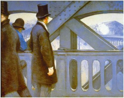 Gustave Caillebotte, On the Pont de l'Europe, 1876–1877.