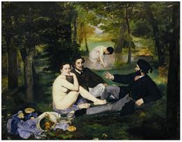 Édouard Manet, Le Déjeuner sur l'herbe, 1863. Huile sur toile, 208 x 264,5 cm. Musée d'Orsay, Paris.