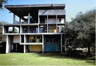 Le Corbusier, Shondan House, 1956. Ahmedabad, Gujarat, India.