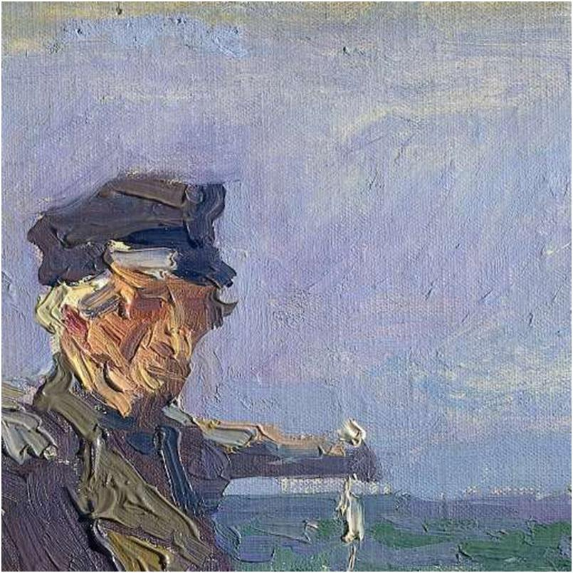 Jan Toorop The Fisherman (detail), 1904. Oil on canvas on panel, 39.5 x31.7 cm. Courtesy of the Rijksmuseum, Amsterdam.
