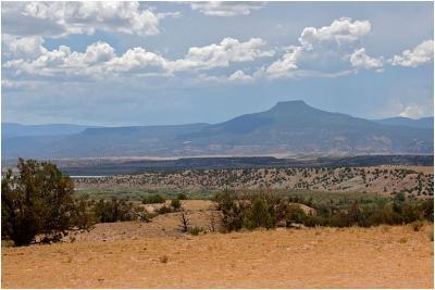 Cerro Pedernal (Nuevo México) era uno de los motivos preferidos de Georgia O'Keeffe.