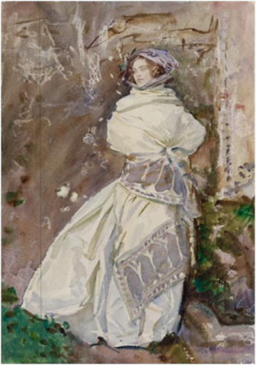The Cashmere Shawl, c. 1911 by John Singer Sargent (50.7 x 35.5 cm). Museum of Fine Arts, Boston, The Hayden Collection—Charles Henry Hayden Fund. Photograph © 2013 Museum of Fine Arts, Boston