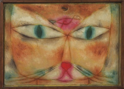 Paul Klee, Cat and Bird, 1928 Oil and ink on gessoed canvas, mounted on wood, 38.1 x 53.2 cm Museum of Modern Art, New York