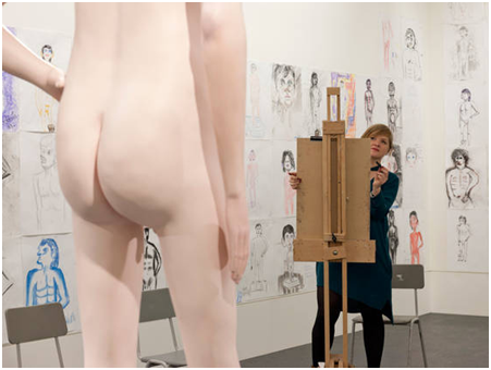 David Shrigley, 'Life Model 2012' (installation), in his exhibit at the 2013 Turner Prize show in Londonderry. © David Shrigley. 