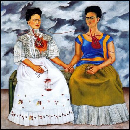 Les Deux Frida, 1939 Huile sur toile, 173 x 173,5 cm Musée d'art moderne, Mexico