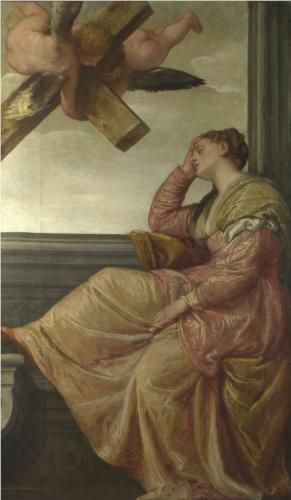 Veronese, The Dream of Saint Helena, c. 1570. Oil on canvas, 197.5 x 115.6 cm.  The National Gallery, London.