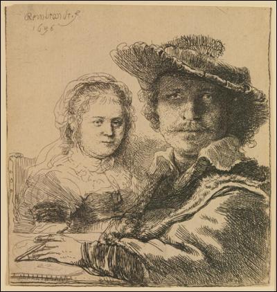 Rembrandt, Autorretrato con Saskia, 1669.