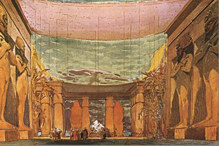 Leon Bakst, Scena per il balletto Cleopatra di Anton Arenski, 1909.
