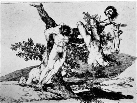 Grande Hazaña ! Con muertos ! (Great deeds! With dead men!), c. 1812-1815, Disasters of War, plate 39, etching with wash, 15.5 x 20.8 cm