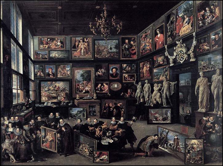 Willem van Haecht, Die Galerie von Cornelius van der Geest, 1628. Öl auf Holztafel, 99 x 129,5 cm Rubenshuis, Antwerpen.