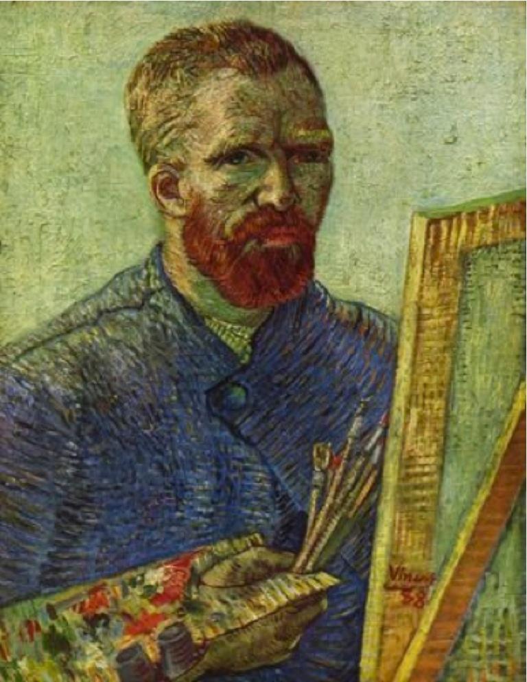 Vincent van Gogh, Selbstporträt vor Staffelei. 1888. Öl auf Leinwand, 65,5 x 50,5 cm. Van Gogh Museum, Amsterdam.