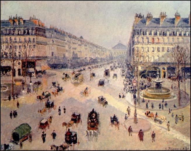 Camille Pissarro, Avenue de l'Opéra, 1898. Oil on canvas, 73 x 92 cm. Musée des beaux-arts, Reims.