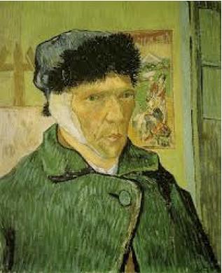 Van Gogh, Autoritratto con l'orecchio bandato, 1889. Olio su tela, 60 x 49 cm. Courtauld Gallery, Londra.