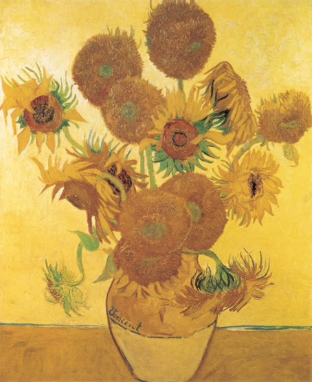 Sunflowers, Arles, 1888. Oil on canvas, 92.1 x 73 cm. The National Gallery, London.