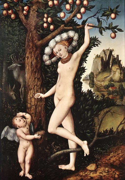 Lucas Cranach el Viejo, Cupido quejándose a Venus, c. 1525