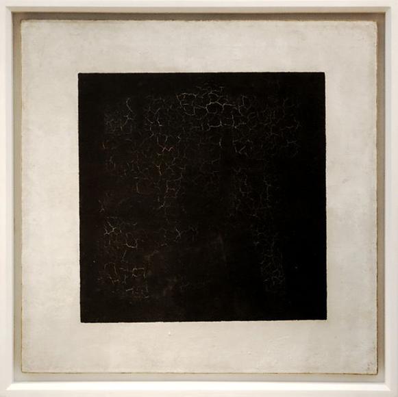 Kasimir Malewitsch: Das Schwarze Quadrat auf weißem Grund, 1915. Öl auf Leinwand, 79 x 79 cm. Tretjakow Galerie, Moskau.