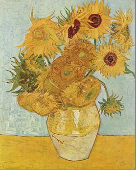 Vincent van Gogh: Zwölf Sonnenblumen in einer Vase, 1888. Öl auf Leinwand, 91 x 72 cm. Neue Pinakothek, München.