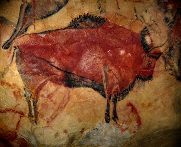 Bisonte en la cueva de Altamira
