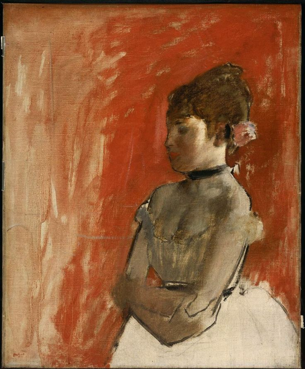 Edgar Degas, Ballet Dancer with Arms Crossed, c. 1872. Oil on canvas, 61.3 x 50.5 cm. Museum of Fine Arts, Boston.