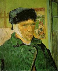 Vincent van Gogh, Autoritratto con l'orecchio bendato, 1889. Olio su tela, 60 x 49 cm. Courtauld Institute Galleries, Londra.