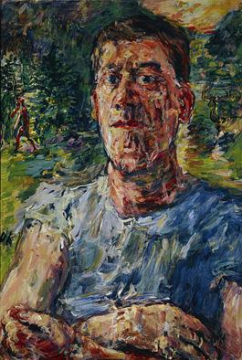 Oskar Kokoschka, Self-Portrait as a Degenerate Artist, 1937. Oil on canvas, 110 x 85 cm. Scottish National Gallery of Modern Art, Edinburgh.