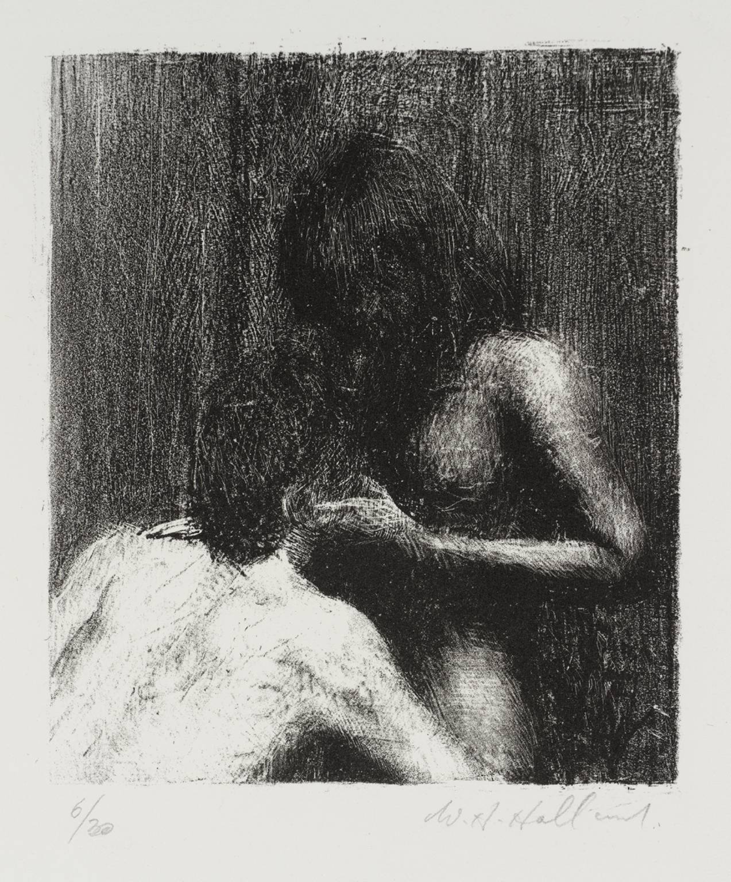 Harry Holland, Lovers, 1982. Lithograph on paper, 13.6 x 11.5 cm. Tate Collection, London.