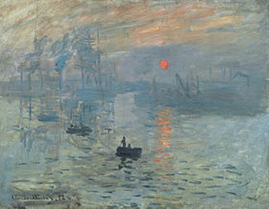 Claude Monet, Impression, Sonnenaufgang, 1872. Öl auf Leinwand, 48 x 63 cm. Musée Marmottan Monet, Paris.