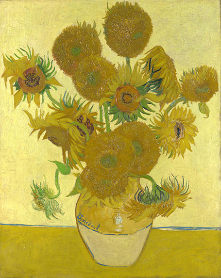 Van Gogh, Girasoles, 1888. National Gallery, Londres.