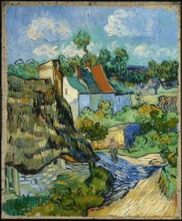 Vincent van Gogh, Houses at Auvers, 1890. Oil on canvas, 75.6 x 61.9 cm. Museum of Fine Arts, Boston.