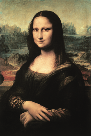 Leonardo da Vinci, Mona Lisa (La Joconde), 1503-1506. Öl auf Pappelholz, 77 x 53 cm. Musée du Louvre, Paris.