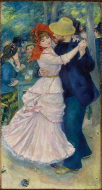 Pierre-Auguste Renoir, Dance at Bougival, 1883. Oil on canvas, 181.9 x 98.1 cm. Museum of Fine Arts, Boston.