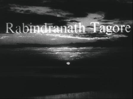 Titelkarte des Films Rabindranath Tagore.