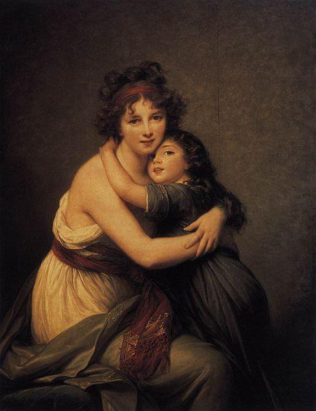 Madame Vigée-Lebrun und ihre Tochter, um 1789. Öl auf Leinwand, 130 x 94 cm. Musée du Louvre, Paris.