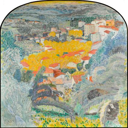 Paysage du Cannet, 1927. Huile sur toile. Musée Bonnard, Le Cannet.
