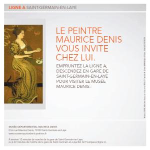 Affiche de la campagne patrimoine Ile de France par SNCF Transilien et du STIF  Crédits : SNCF Transilien