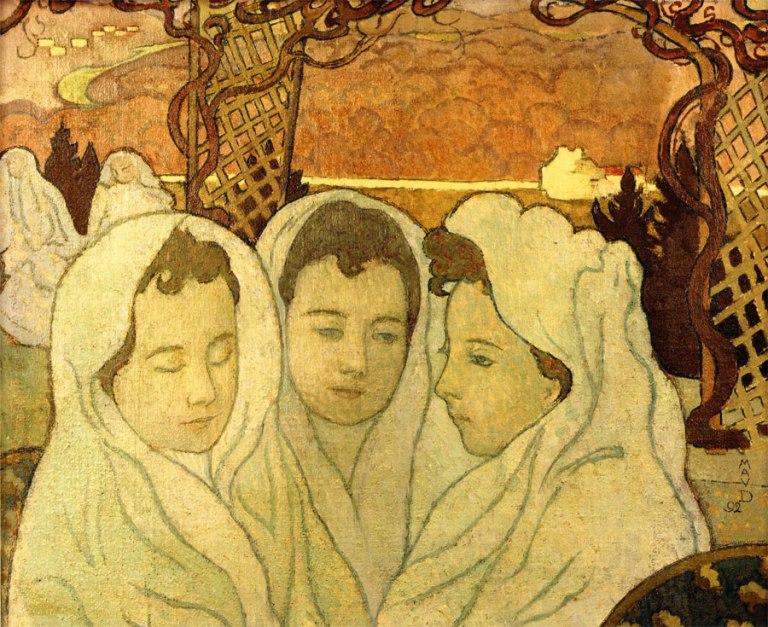 Maurice Denis, Triple Portrait de Marthe fiancée, 1892. Huile sur toile. Dépôt du musée municipal de Saint-Germain-en-Laye, Musée départemental Maurice Denis, Saint-Germain-en-Laye.