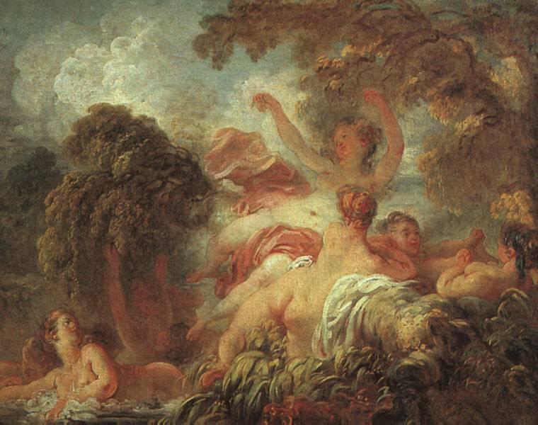 Jean-Honoré Fragonard, Les Baigneuses, 1763-1764. Huile sur toile, 64 x 80 cm. Musée du Louvre, Paris