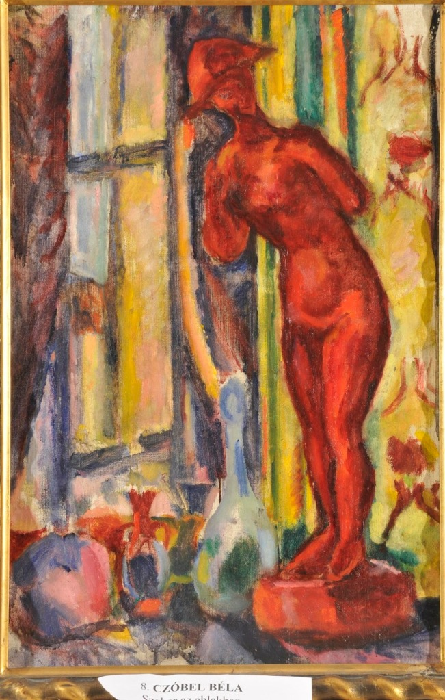 "This 1909 painting, Béla Czóbel's ""Red Nude Sculpture II,"" was recently turned in to a gallery in Budapest.  (Photo: Courtesy of Gergely Barki)"