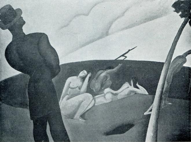 'Sziluettes kompozicio' by Bereny, 1911. (Photo: Courtesy of Gergely Barki)