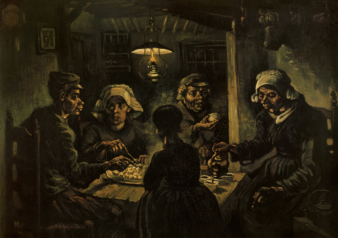 Vincent Van Gogh, The Potato Eaters, 1885. Oil on canvas, 82 x 114 cm. Van Gogh Museum, Amsterdam.