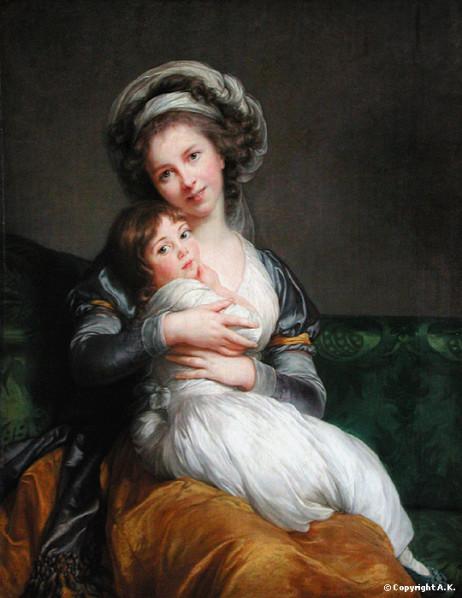 Madame Vigée-Lebrun et sa fille, Jeanne-Lucie, dite Julie, 1786. Huile sur toile, 105 x 84 cm. Musée du Louvre, Paris.