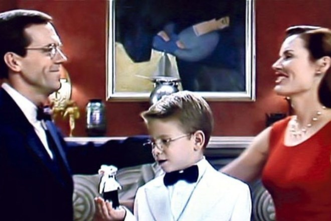 """The scene in the film """"Stuart Little,"""" with the Róbert Berény painting in the background. (Photo: Courtesy of Columbia Pictures)"""