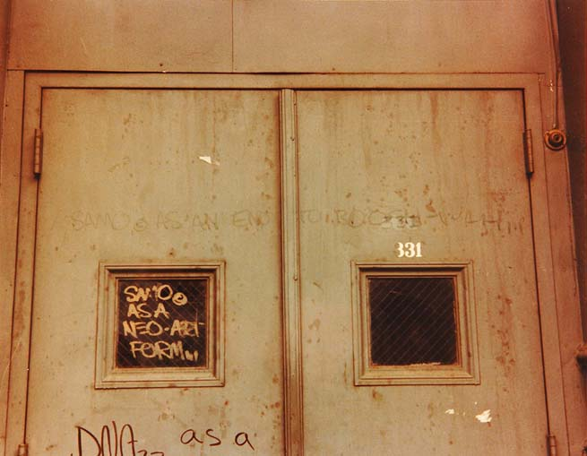 Image 1 - The SAMO© Graffiti photographed by Henry Flynt, 1979.