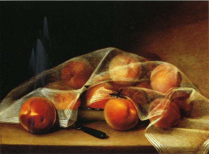 Covered Peaches Raphaelle Peale, American, 1774 – 1825.