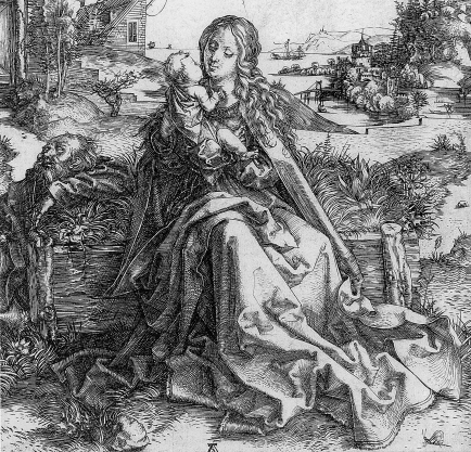 albrecht-durer_1495-1495_the-holy-family-with-a-grasshopper-bw