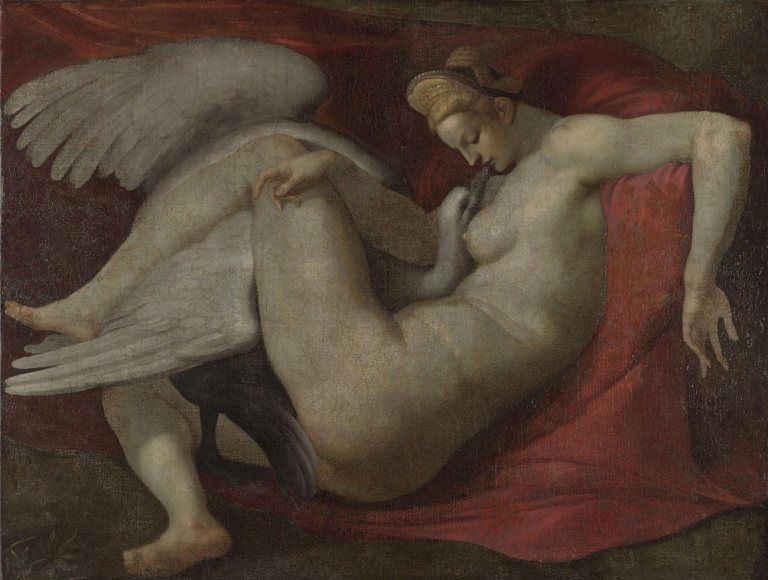 After Michelangelo Buonarroti, Leda and the Swan, after 1530. Oil on canvas, 105.4 x 141 cm. National Gallery, London.