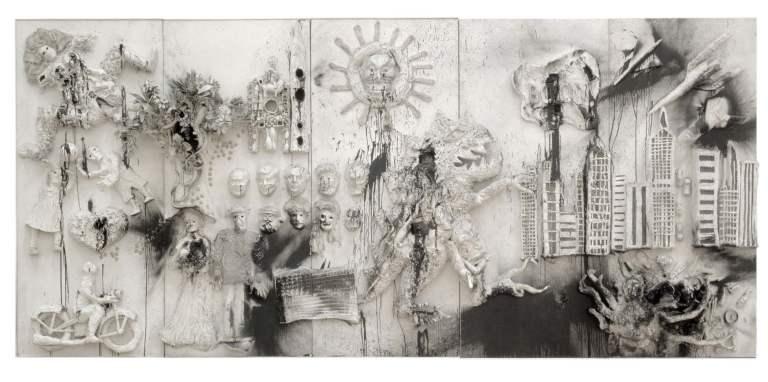 King-Kong, 1962. Mixed media, relief, 276 x 611 x 47 cm. Moderna Museet, Stockholm.