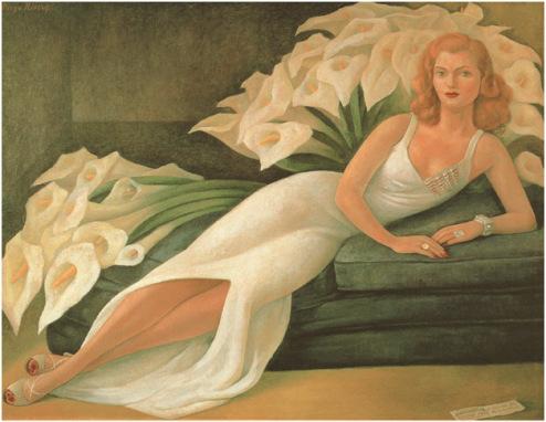 迭戈•里维拉 娜塔莎•格尔曼夫人的肖像画,1943年 布面油画, 115 x 153 cm. 20世纪墨西哥艺术雅克和娜塔莎•吉尔曼收藏。 Vergel基金会. 国家文化和艺术委员会/INBA. © 2013 墨西哥银行 迭戈•里维拉弗里达•卡罗博物馆,墨西哥信托, D.F. /艺术家权利协会(ARS), 纽约 纳尔逊阿特金斯艺术博物馆提供, 堪萨斯城.