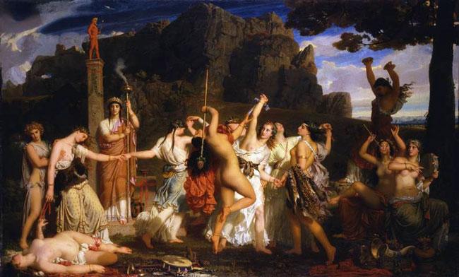 La Danse des Bacchantes, 1849. Huile sur toile, 147×243 cm. Musée cantonal des Beaux-Arts, Lausanne.